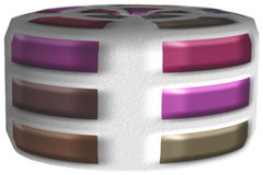 Abstract voorwerp met grote gekleurde strepen Royalty-vrije Stock Afbeeldingen