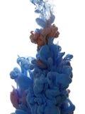 Abstract voorwerp van verfplons Kleurenwolk van inkt in water Stock Foto's