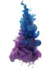 Abstract voorwerp van verfplons Kleurenwolk van inkt in water Stock Fotografie