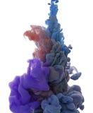 Abstract voorwerp van verfplons Kleurenwolk van inkt in water Royalty-vrije Stock Foto