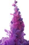 Abstract voorwerp van verfplons Kleurenwolk van inkt in water Royalty-vrije Stock Foto's