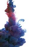 Abstract voorwerp van verfplons Kleurenwolk van inkt in water Stock Afbeelding