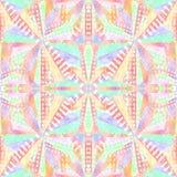 Abstract vormen naadloos patroon Herhaal geometrische psychedelische mozaïekachtergrond Caleidoscoopeffect vector illustratie