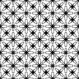 Abstract vormen zwart-wit naadloos patroon Royalty-vrije Stock Fotografie