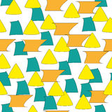 Abstract vormenpatroon Stock Foto
