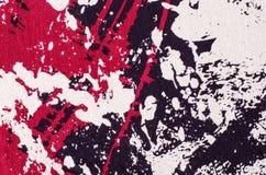 Abstract vormenpatroon op grijze stof Stock Afbeelding