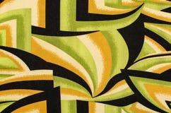 Abstract vormenpatroon op stof Stock Afbeelding