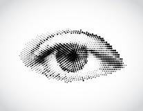 Abstract vrouwen grijs die oog van punten wordt gemaakt. Vector Stock Foto