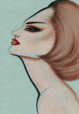 Abstract vrouwenportret De achtergrond van de manier Royalty-vrije Stock Foto