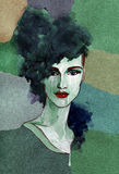Abstract vrouwenportret De achtergrond van de manier Stock Fotografie
