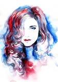 Abstract vrouwenportret De achtergrond van de manier Royalty-vrije Stock Afbeelding
