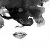 Abstract vrouwenportret De achtergrond van de manier Royalty-vrije Stock Fotografie