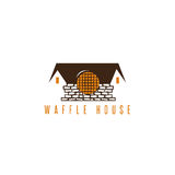 Abstract waffle brick house vector design. Template Royalty Free Stock Photos