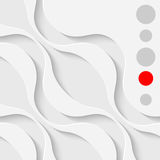 Abstract Wale Graphic Design. White Curved Shapes Background. Minimalistic 3d Wallpaper Royalty Free Stock Photo