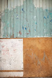 Abstract wall in alley Stock Photography