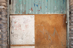Abstract wall in alley Royalty Free Stock Photos