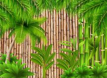 Abstract Wall Art Jungle Design Style royalty free illustration