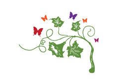 Abstract wall art sticker Stock Photography