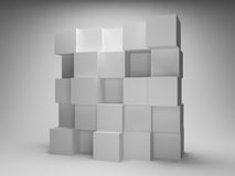 Abstract wall of boxes Royalty Free Stock Photo