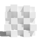 Abstract wall of boxes Royalty Free Stock Image