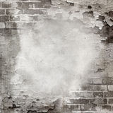 Abstract wall of brick and cracked paint Stock Photography