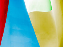 Abstract wall of building in different colours. Stock Photos