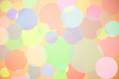 Abstract on wall. Abstract circles design on wall texture Stock Photography