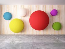 Abstract wall of colorful design Stock Photos