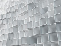 Abstract wall of empty boxes Royalty Free Stock Photography