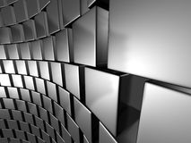 Abstract Wall Of Metallic Silver Cubes. 3d Render illustration royalty free illustration