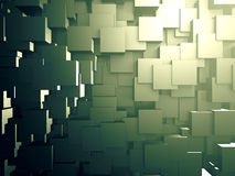 Abstract Wall Of Metallic Silver Cubes Stock Image