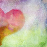 Abstract wall with a picture of the heart halvesl. Royalty Free Stock Photography