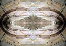 Abstract Wall Reflection 2. Abstract design made from a photo of stone wall Stock Image