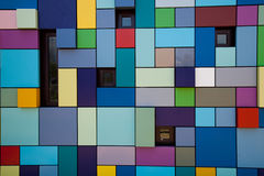Abstract wall with small windows Stock Image