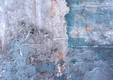 Abstract wall texture. Background of a concrete gray and blue wall stock photography