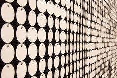 Abstract wall with white dots Stock Photo