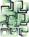 Abstract wallpaper. With green squares Stock Photography