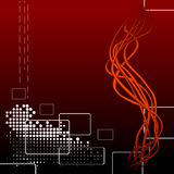 Abstract wallpaper. Hi tech red vector background Stock Photography