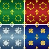 Abstract wallpaper 2. Abstract floral wallpaper, four versions Royalty Free Stock Photo