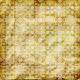 Abstract wallpaper. Seamless abstract wallpaper on striped background,  crumpled burning paper texture, golden foil Stock Images