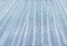 Abstract wallpaper blue raindrop spray bubble condensation Royalty Free Stock Photography