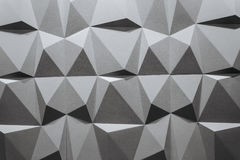 Abstract wallpaper or geometrical background consisting of black and white geometric shapes: triangles and polygons Royalty Free Stock Photo