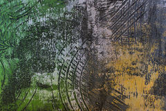 Abstract wallpaper of oil painting with brush strokes in cool colors Royalty Free Stock Photo