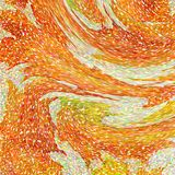An abstract wallpaper pattern designed in warm autumn colors: bright orange, yellow, red and green colors vector illustration