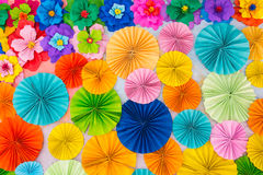 Abstract wallpaper rainbow colorful rose flower paper background Stock Photos