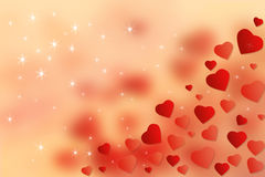 Abstract Wallpaper Red Hearts Background. Happy Valentine's Day concept stock illustration