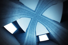 Abstract wallpaper scene of spiritual cathedral up view Royalty Free Stock Images