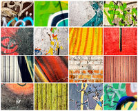 Abstract walls. Bunch of the abstract walls Royalty Free Stock Images