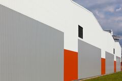 Abstract warehouse wall exterior Stock Image