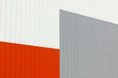 Abstract warehouse wall exterior Stock Images